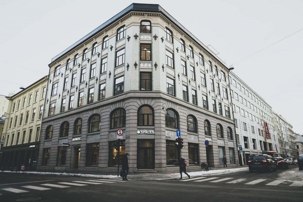 Batiments de travail collaboratif à Oslo en Norvège